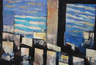 Óleo sobre tela. Mauricio Ojeda, artista porteño.